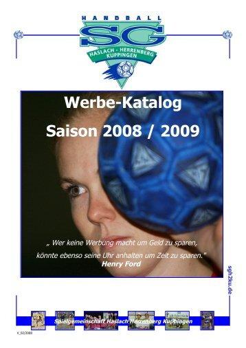 Henry Ford Werbe-Katalog Saison 2008 / 2009 - SG H2Ku Herrenberg