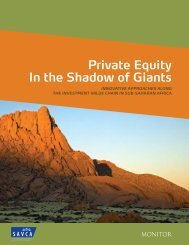 Private Equity In the Shadow of Giants - African Venture Capital ...