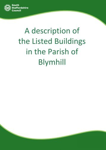 A description of the Listed Buildings in the Parish of Blymhill