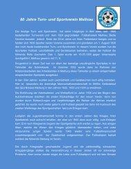 75 Jahre Turn- und Sportverein Mellnau