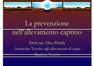PERTILE - La prevenzione nell allevamento caprino - Regione Veneto