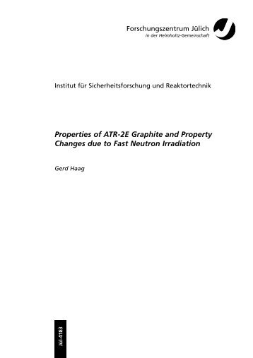 Properties of ATR-2E Graphite and Property Changes due to Fast ...