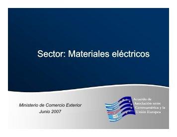 Sector: Materiales eléctricos - Acuerdo de Asociación entre ...