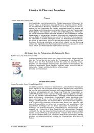Literatur für Eltern und Betroffene (PDF, 297 KB)