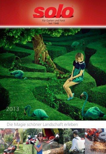 SOLO Katalog 2013 - Boehler Josef, Forst- und Gartentechnik ...