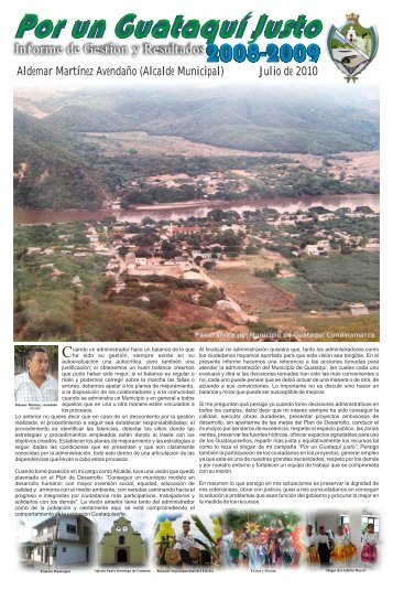 Plan de desarrollo - Guataqui - CDIM - ESAP