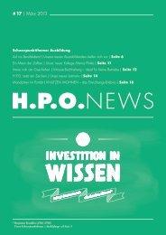 # 17 | März 2013 - HPO Wirtschaftspartner