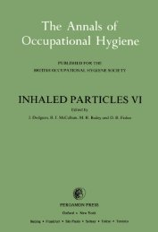 inhaled particles vi - The Annals of Occupational Hygiene