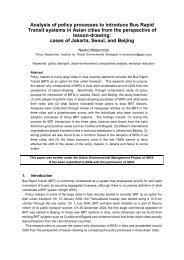Analysis of policy processes to introduce Bus Rapid Transit systems ...