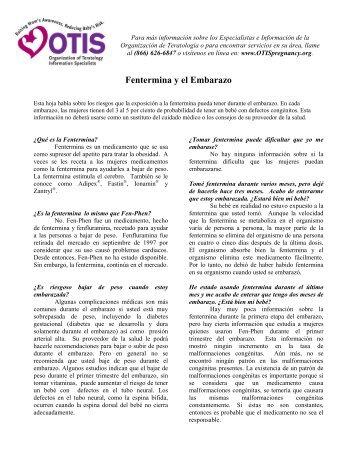 Fluconazol y el Embarazo - Organization of Teratology