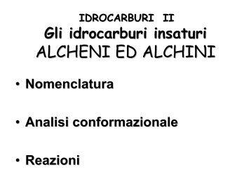 ALCHENI ED ALCHINI