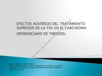 Efectos adversos del tratamiento superior de la TSH - Servicio de ...