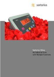 Sartorius Miras Indicator - National Weighing & Instruments