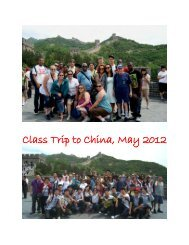 Class Trip to China, May 2012 - Indian River State College
