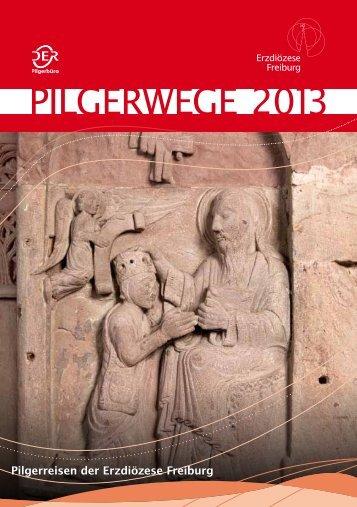 Pilgerwege 2013 Broschuere