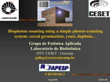 Biophoton counting using a simple photon-counting system ... - upe