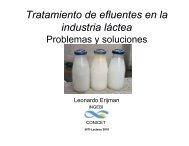 Tratamiento de efluentes en la industria láctea - INTI