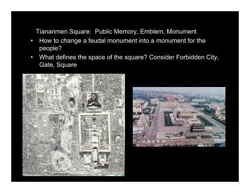 Tiananmen Square: Public Memory, Emblem, Monument • How to ...