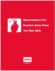 REQUIREMENTS FOR INTERIOR SIGNS FROM THE NEW ADA