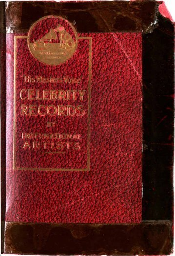 His Master's Voice Celebrity Records 1915-18 - British Library ...