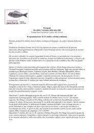 CS ultima settimana 16-21 ottobre Perepepe Fondazione Pe