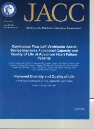 Continuous Flow LVAD Improves Functional Capacity and Quality of ...