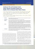 Continuous Flow LVAD Improves Functional Capacity and Quality of ... - Page 2