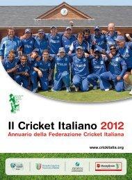 Il Cricket Italiano 2012 - Federazione Cricket Italiana
