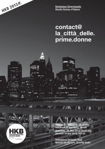 contact@ la_città_delle. prime.donne - Da Vinci Orchestra