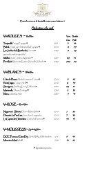 La carte des vins - Domaine du Vieux Couvent
