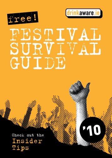 Festival Survival Guide booklet 2010 - Drinks Initiatives