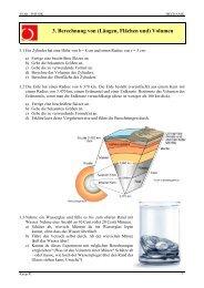 3. Berechnung von (Längen, Flächen und) Volumen - LTAM
