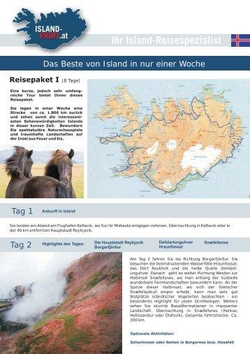 Reisepaket 1 - Island-Reisen