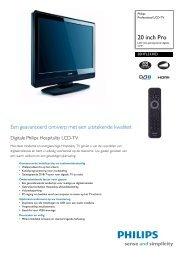 20HFL3330D/10 Philips Professional LCD-TV - Gebroeders Nijs