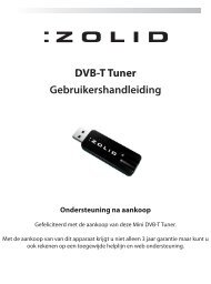 Gebruikershandleiding DVB-T Tuner - Unisupport