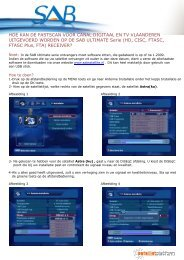 hoe kan de fastscan voor canal digitaal en tv ... - Deco Satellite