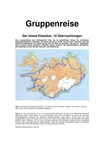 Gruppenreise - Island-Reisen