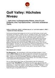 Valley -gute Zukunft 1 - Golf Valley GmbH