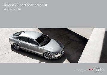 Audi A7 Sportback prijslijst - Brochure aanvraag - Audi