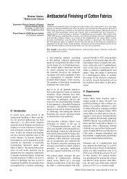 Antibacterial Finishing of Cotton Fabrics - Fibres & Textiles in ...