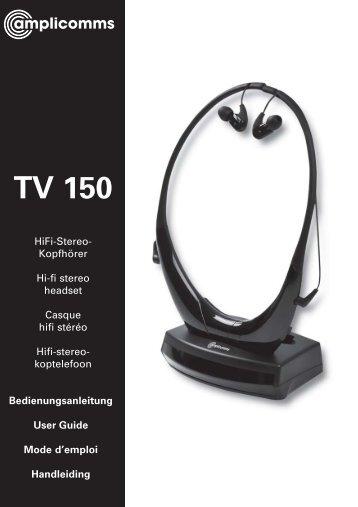tv 150 in gebruik nemen
