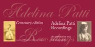 Adelina Patti Recordings - Historic Masters