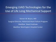 Emerging LVAD Technology for the Use - Washington Hospital Center