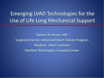 Emerging LVAD Technology for the Use - Washington Hospital Center
