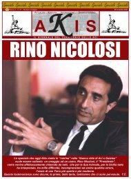 RINO NICOLOSI - Akis