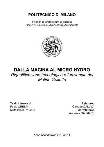 Dalla macina al micro hydro.pdf - Ecomuseo e Agenda 21 Parabiago