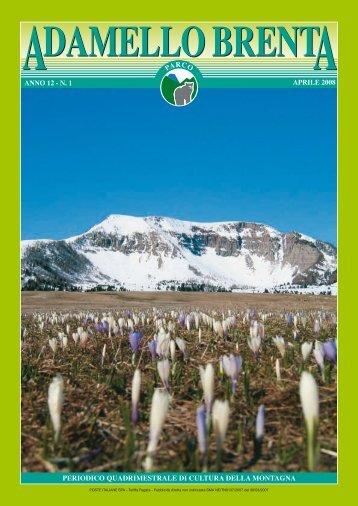 n. 1 periodico quadrimestrale di cultura della montagna parco