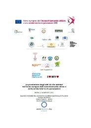 La promozione degli stili di vita salutari nell'anno europeo dell ...