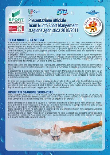 Team Nuoto - Sport Management