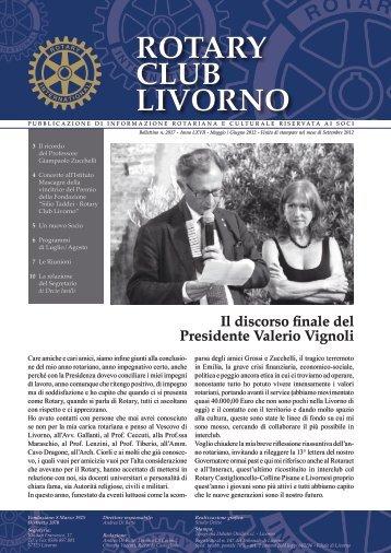 Bollettino Maggio-Giugno 2012 - Rotary Club Livorno